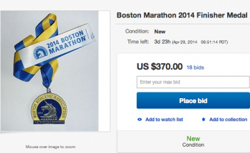 """Gloria maratoniana"" a la venta: Medallas de Boston Marathon en E Bay"