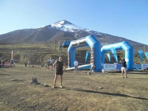 Al pie del volcán Villarrica, la largada