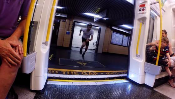 Videos locos: correr contra el subte!