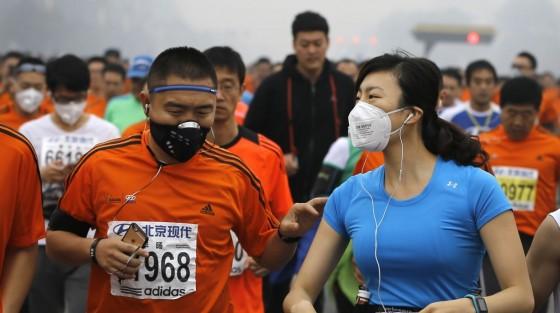 Maratón de Beijing: correr de la contaminación