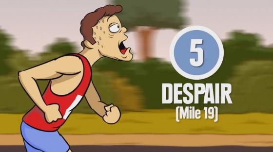 """VIDEOS LOCOS: """"Las 8 etapas de la maratón"""""""