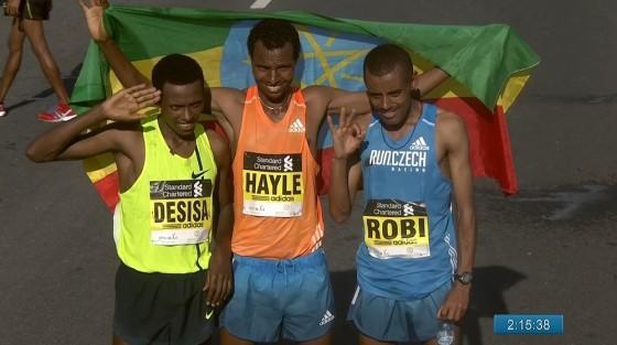 Maratón de Dubai: Etiopía se adueñó del podio, pero Bekele se rindió