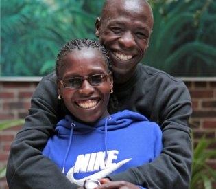 Florence Kiplagat y Moses Mosop