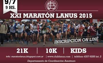 21k y 10k Lanús 2015: aumentan la expectativa y la cantidad de inscriptos