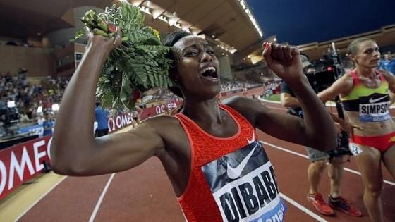 Genzebe Dibaba bate el récord mundial de 1.500 con 3:50.07