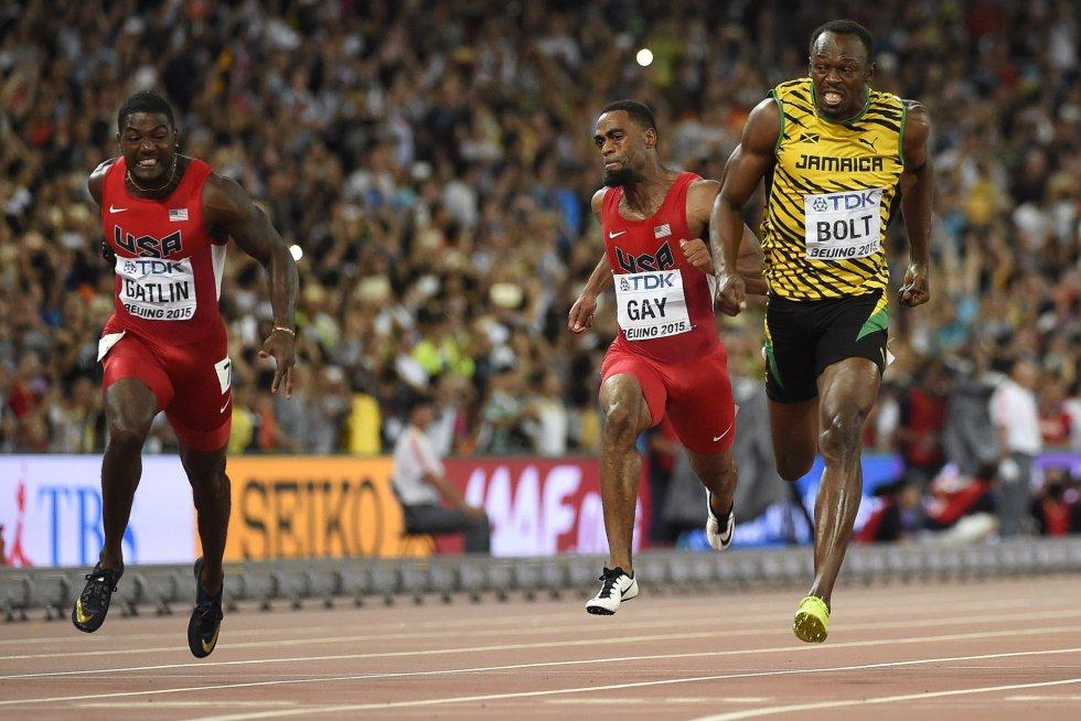 USain Bolt campeon 100 metros Beijing locos por correr 13