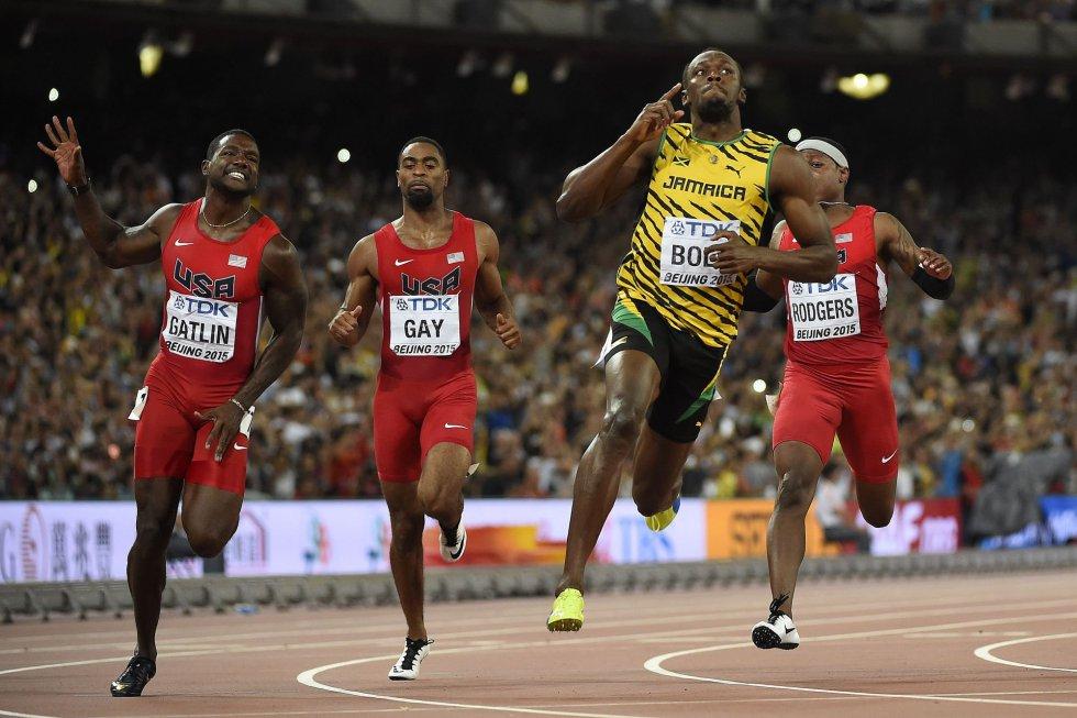 USain Bolt campeon 100 metros Beijing locos por correr 17