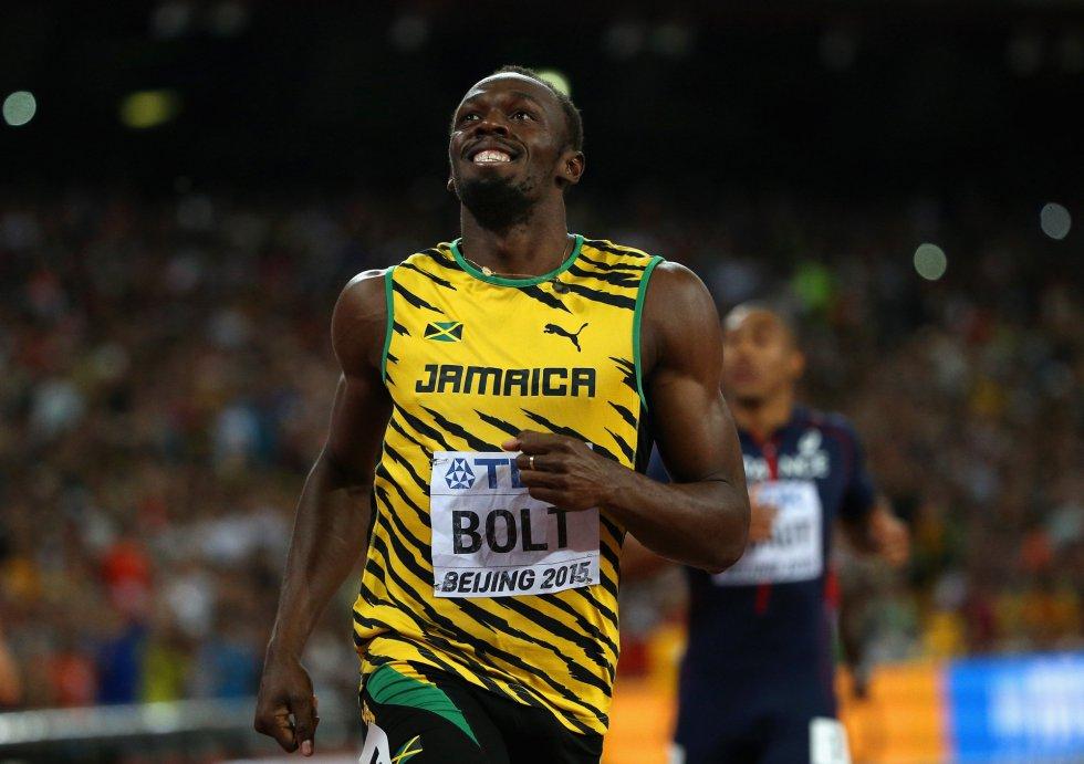 USain Bolt campeon 100 metros Beijing locos por correr 18