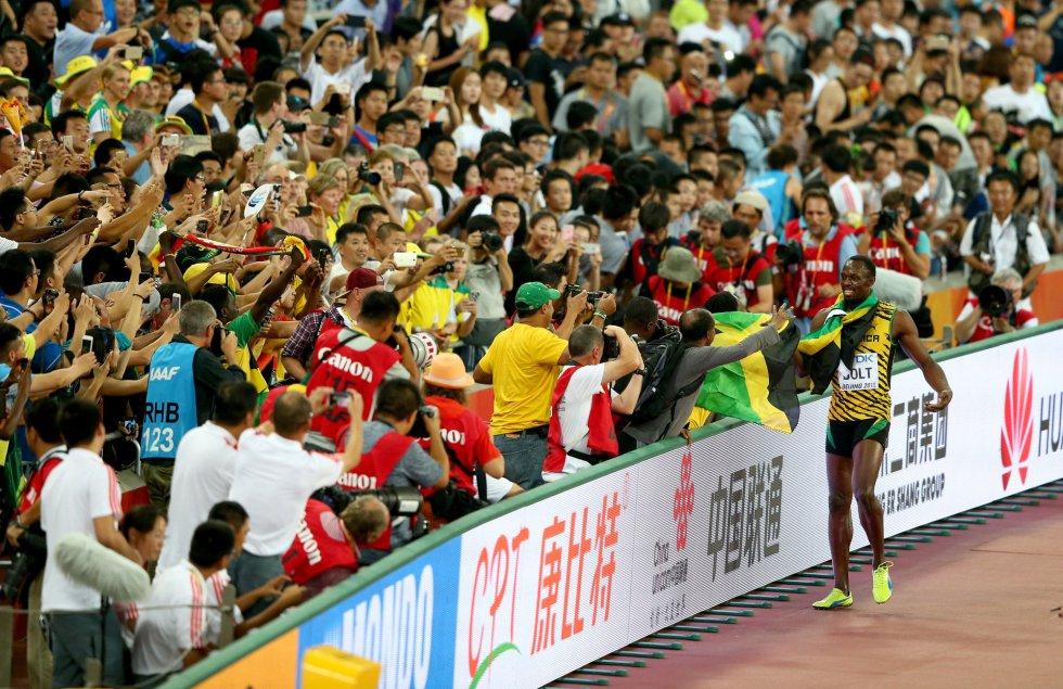 USain Bolt campeon 100 metros Beijing locos por correr 21