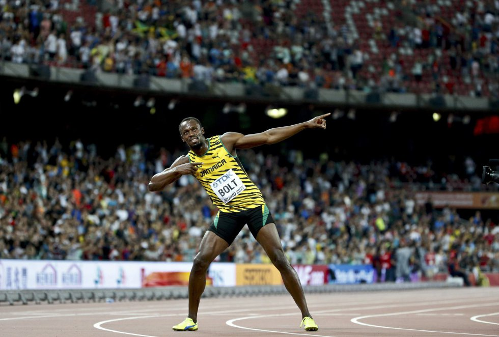 USain Bolt campeon 100 metros Beijing locos por correr 25