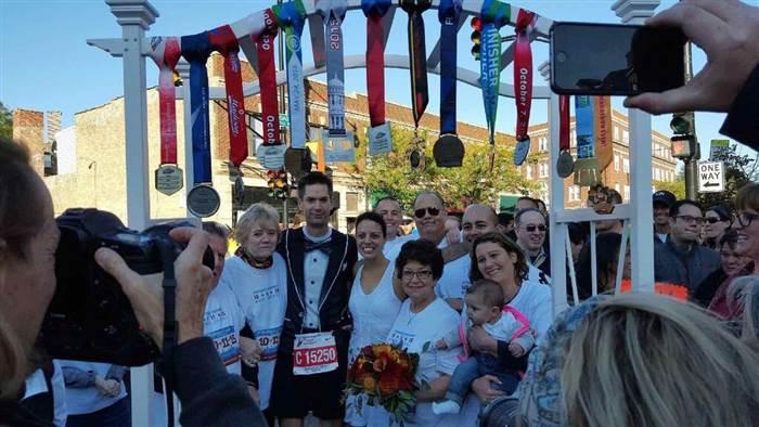 Casamiento Maraton de Chicago locos por correr 02
