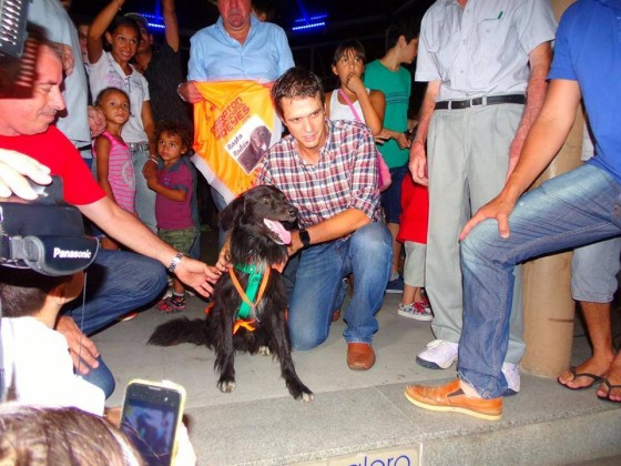 """Entregaron medalla de honor a """"El Rasta Rubén"""", el perro callejero """"runner"""" de Concordia"""