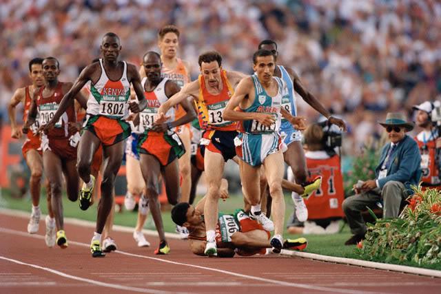 Hicham El Guerrouj Atlanta 1996 caida final 1500m Locos por correr