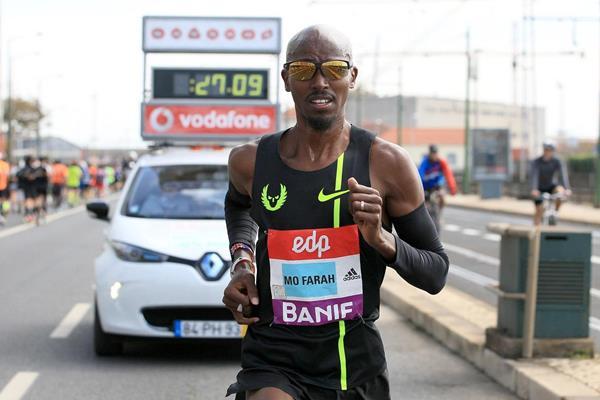 Mo Farah en Media Maratón de Lisboa 2015 - Locos por correr