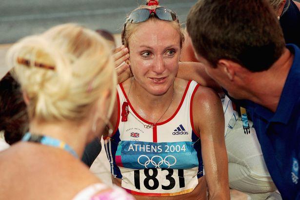 Paula Radcliffe Atenas 2004 Locos por correr