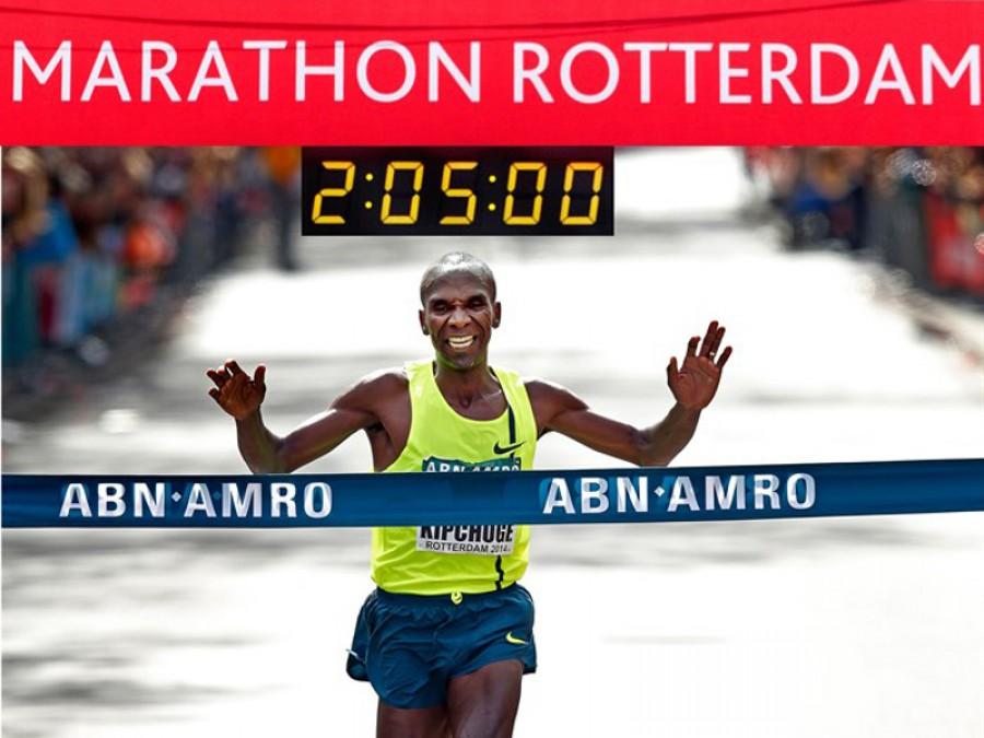 Kipchoge en Rotterdam 2014 Locos por correr