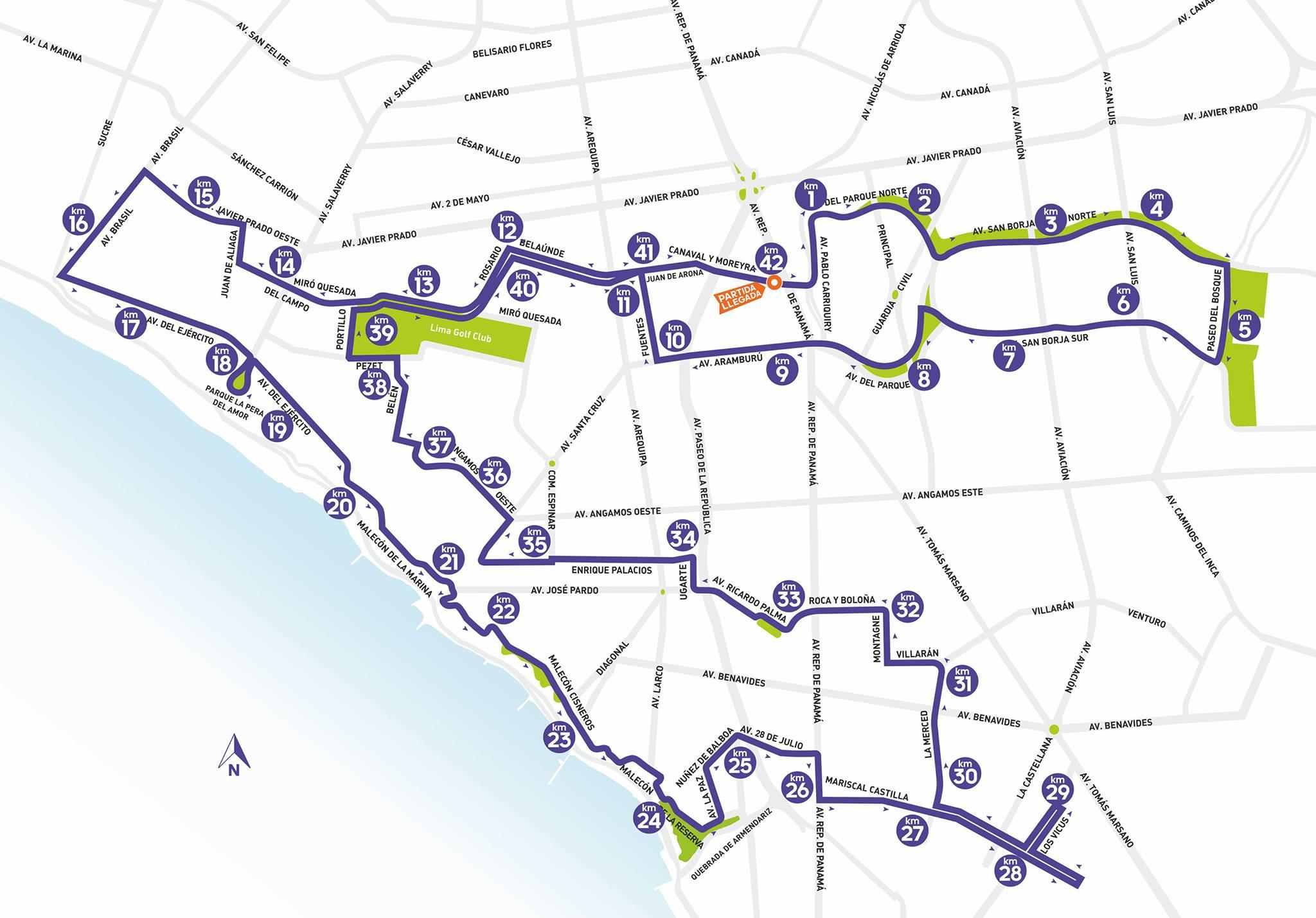 Circuito de la Maratón de Lima - Locos por correr