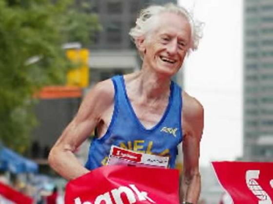 Correr a los 85 años: un joven octogenario