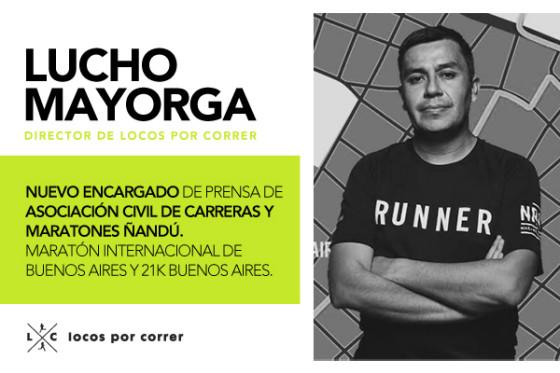 Lucho Mayorga es el nuevo encargado de prensa de la Maratón Internacional de Buenos Aires