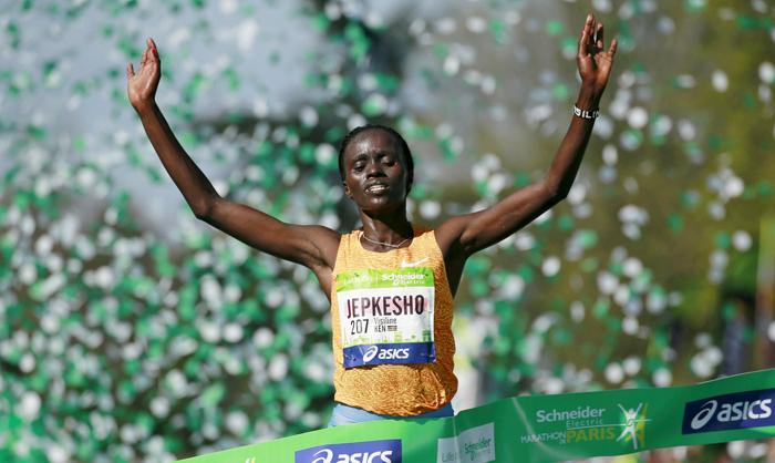 Visiline Jepkesho - ganadora maratón de París 2016 - equipo de Kenia Juegos Olímpicos Rio - Locos por correr