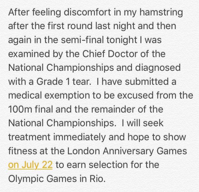 USain Bolt trials Jamaica lesion locos por correr 01