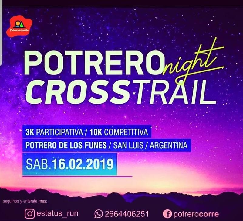 Potrero Corre Cross Trail nocturno 2019 Precio fecha inscripciones fotos resultados Locos Por Correr 01