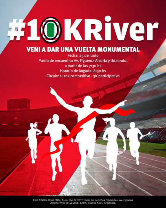 10k River 2017: ya hay fecha e inscripciones abiertas
