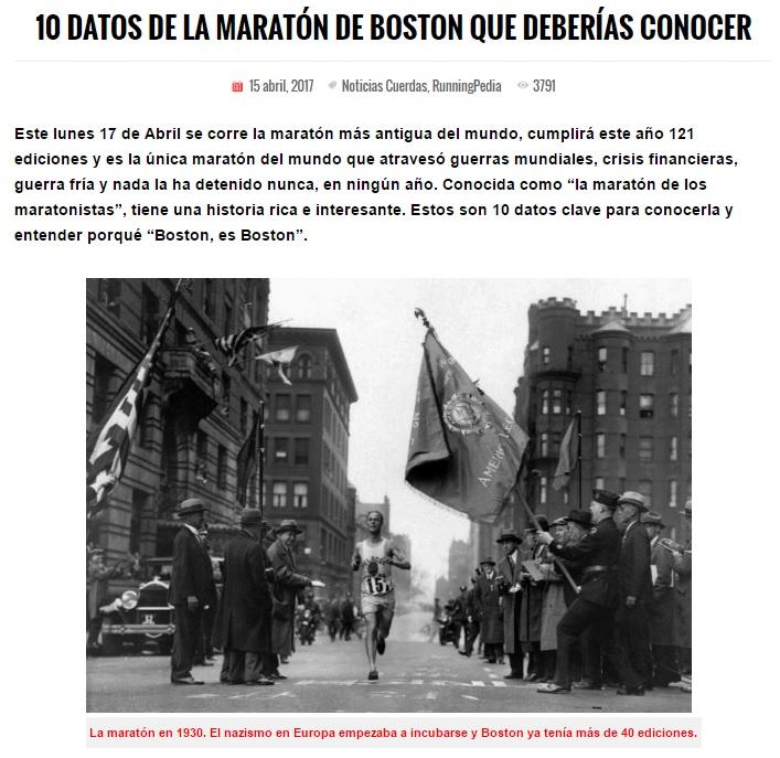 Maraton de Boston 2017 Boston Marathon 2017 Resultados Locos por Correr 08