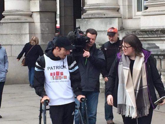 Después de 5 días y con parálisis cerebral, terminó la maratón de Londres