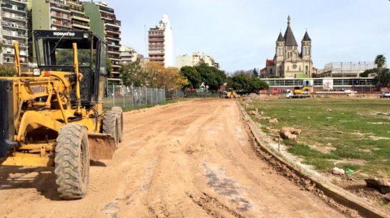 Parque Chacabuco: cómo siguen los trabajos en la pista?