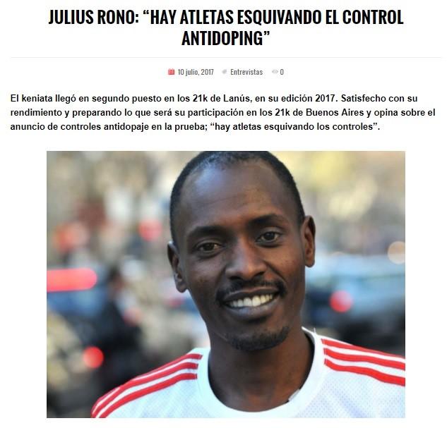 Julius Rono 04 Entrevista locos Por Correr