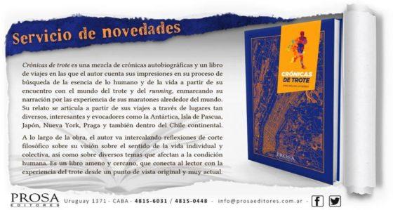 """""""Crónicas de trote"""": el nuevo libro para runners llega a Argentina"""