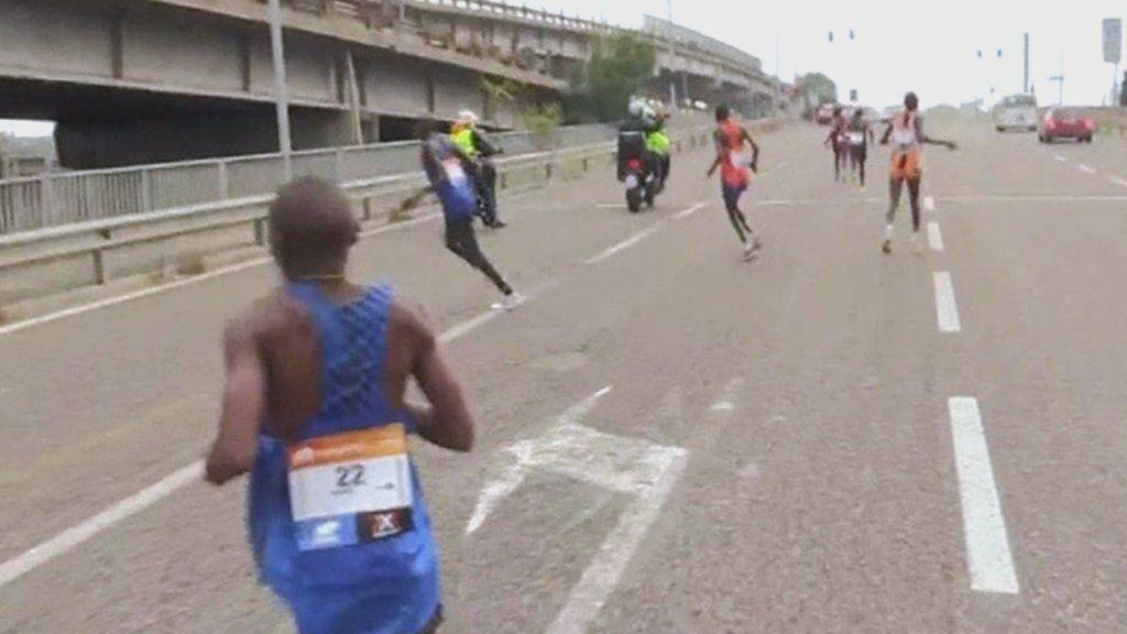 Maraton Venceia camino equivocado Locos Por Correr