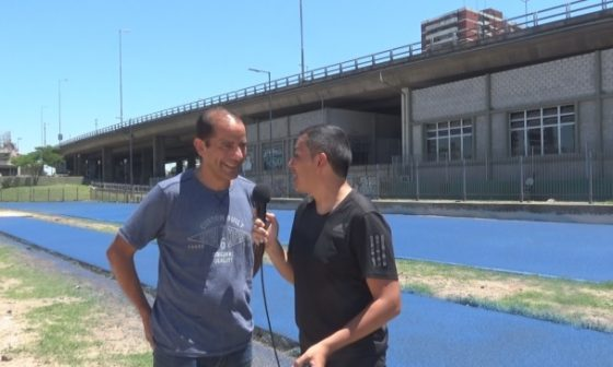 Antonio Silio visitó la nueva pista del Parque Chacabuco y lanzamos un desafío
