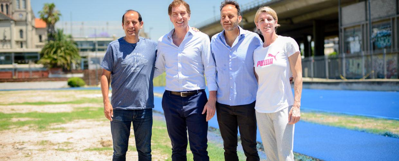 Pista de Parque Chacabuco: Diego Santilli recorrió con deportistas las obras
