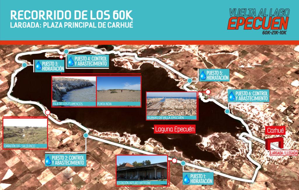 Recorrido Vuelta al lago Epecuén