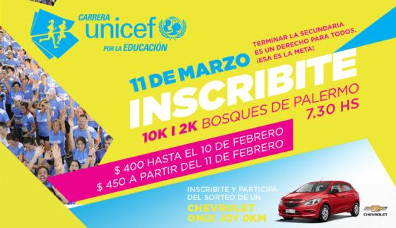 10k UNICEF 2018: abrieron las inscripciones