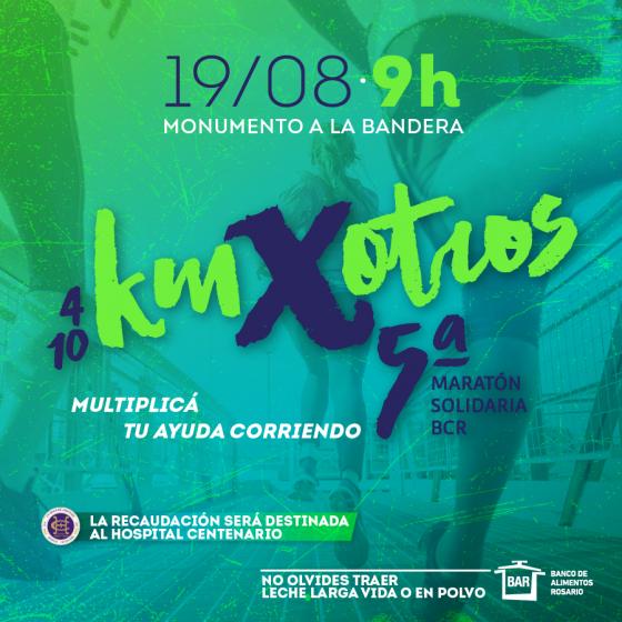 Maratón BCR en Rosario: el 19 de agosto la 5° edición de una carrera familiar y solidaria