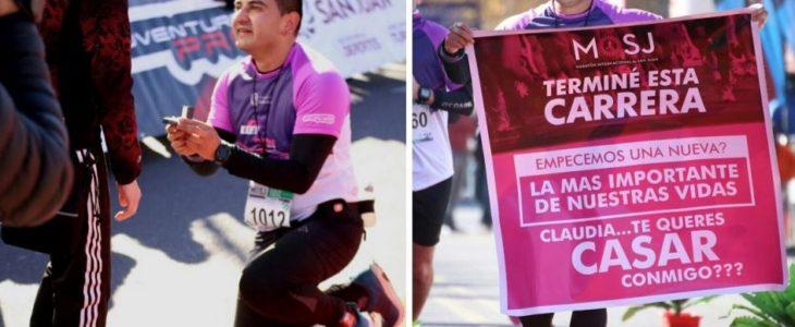 Maratón de San Juan: le pidió matrimonio al terminar la carrera