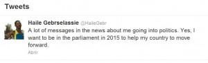 """Haile: """"Quiero estar en el Parlamento"""""""