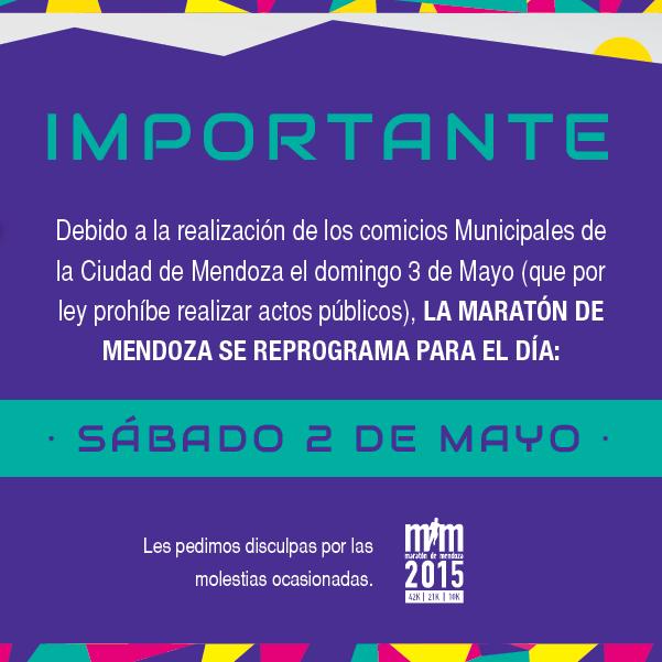 Maratón de Mendoza 2015 nueva fecha inscripciones locos por correr