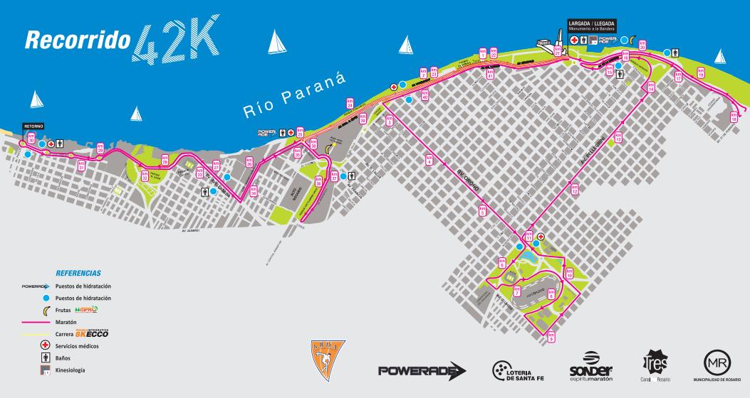 Maraton rosario 42k 2015 Locos por correr recorrido circuito