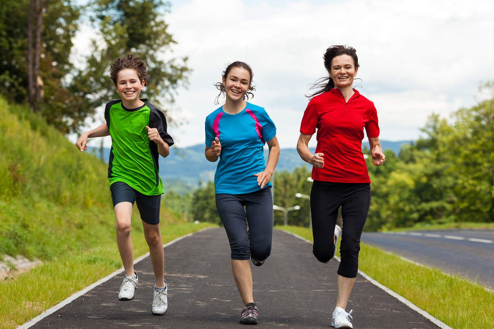 Active people running