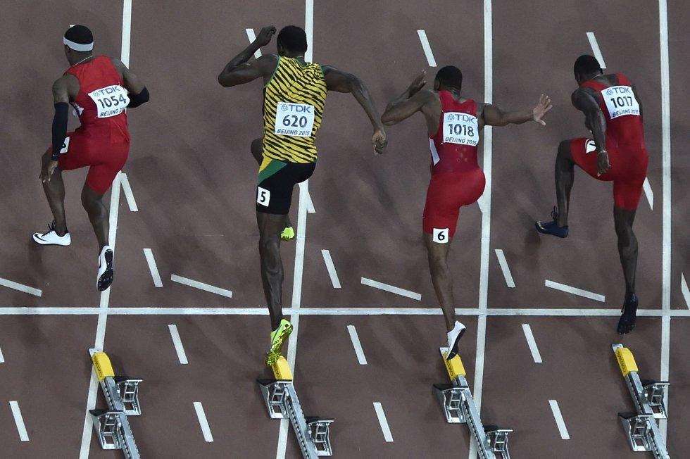 USain Bolt campeon 100 metros Beijing locos por correr 11