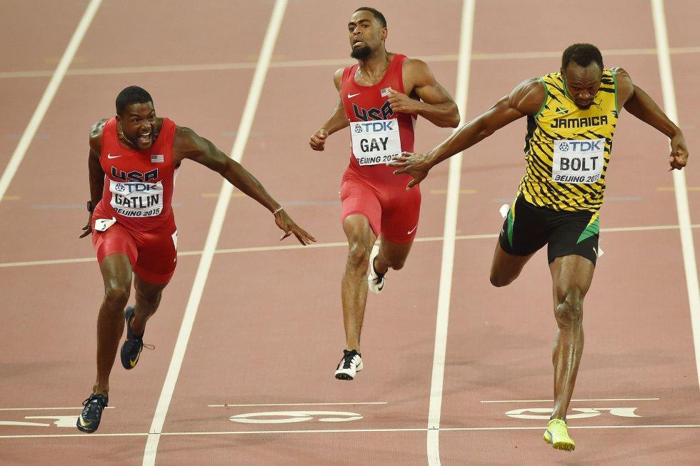 USain Bolt campeon 100 metros Beijing locos por correr 14
