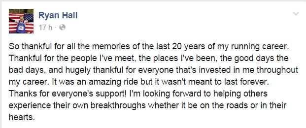 Ryan Hall anuncio su retiro Locos por correr