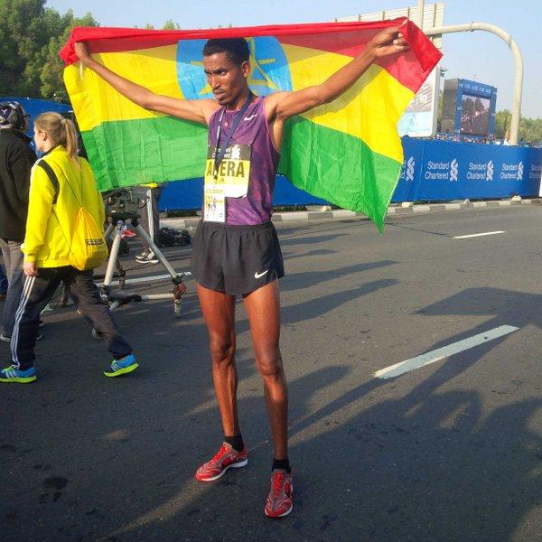 Tesfaye Abera ganador Maratón de Dubai 2016