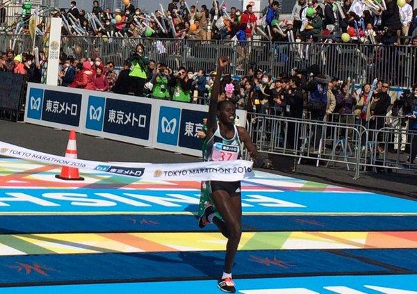 Helah Kiprop Maratón de Tokio 2016 - Locos por correr