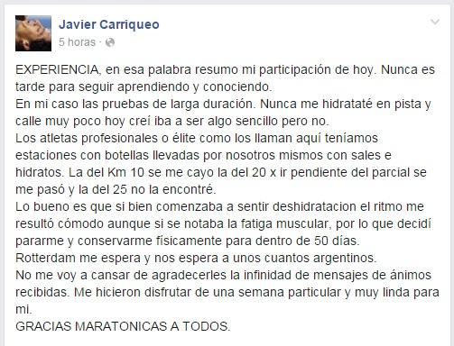 Javier Carrioqueo marca Rio 2016 Locos Por Correr 05