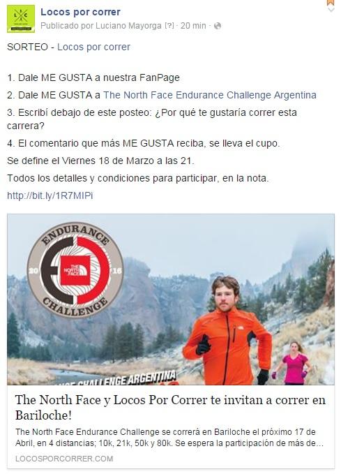 The North Face Endurance Challenge Concurso Locos Por Correr
